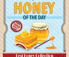Fresh honey poster vector