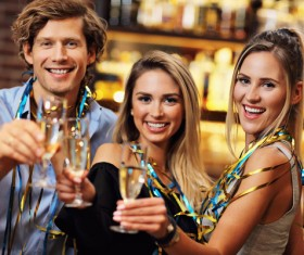 Friends celebrating Stock Photo