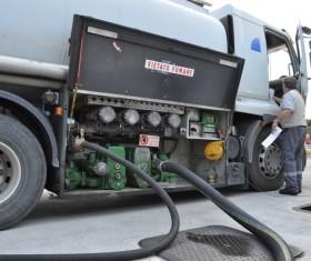 Fuel tank car Stock Photo