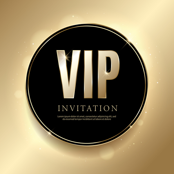 golden vip invitation card template vector 01 free download
