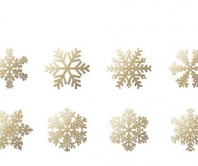 Golden snowflake illustration vectors