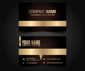 Golden with black luxury business card template vector 01