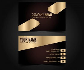 Golden with black luxury business card template vector 04