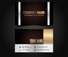 Golden with black luxury business card template vector 08