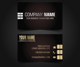 Golden with black luxury business card template vector 10