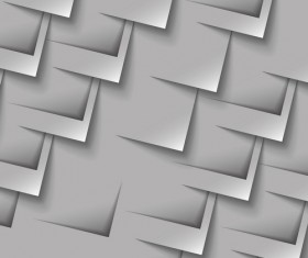Gray paper cut background vector