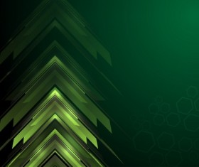 Gree tech abstract background vector