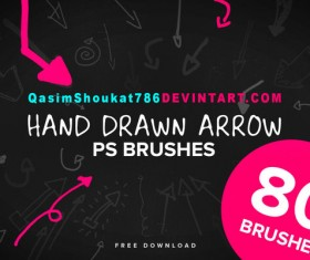 Hand Drawn Arrows Photoshop Brushes