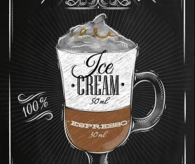 Hand drawn drink poster template vector 02