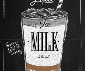 Hand drawn drink poster template vector 04