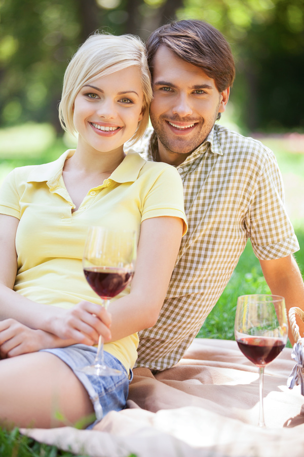 Happy Lovers outing Stock Photo