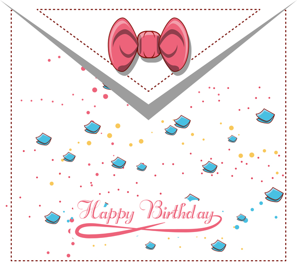 Happy birthday postercard vector material
