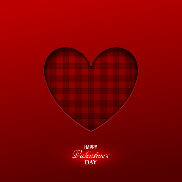 Happy valentine red background template vector 04