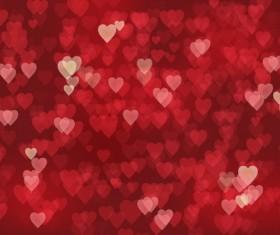 Heart blurs background vector