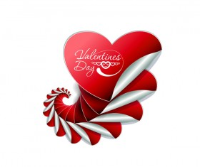 Heart shape sticker valentine vector