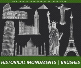 Historical Monuments Photoshop Brushes