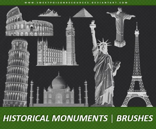 Historical Monuments Photoshop Brushes