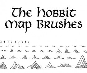 Hobbit Map Photoshop Brushes