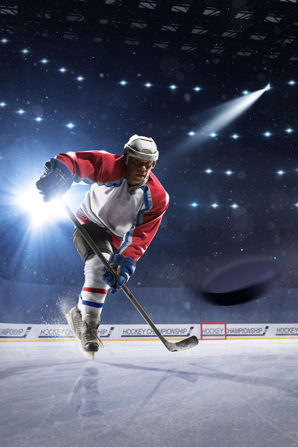 Hockey player Stock Photo 01
