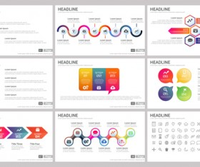 Huge collection of business infographic vectors 07