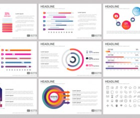 Huge collection of business infographic vectors 08