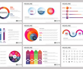 Huge collection of business infographic vectors 09