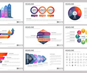Huge collection of business infographic vectors 10