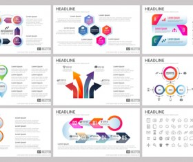 Huge collection of business infographic vectors 11