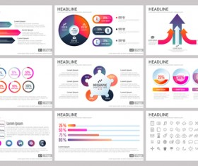 Huge collection of business infographic vectors 12
