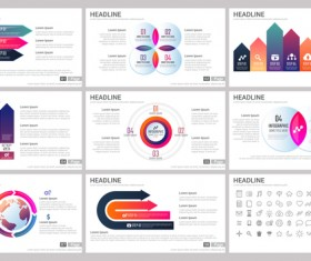 Huge collection of business infographic vectors 13