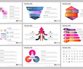 Huge collection of business infographic vectors 14