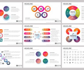 Huge collection of business infographic vectors 15