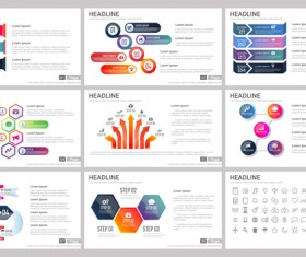Huge collection of business infographic vectors 16