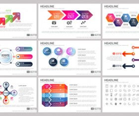 Huge collection of business infographic vectors 17