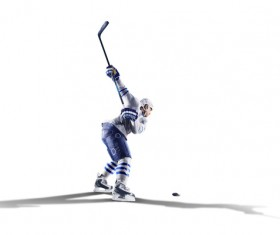 Ice hockey kick-off Stock Photo