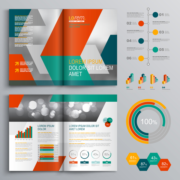Infographic With Modern Brochure Template Vector Vector - Modern brochure template