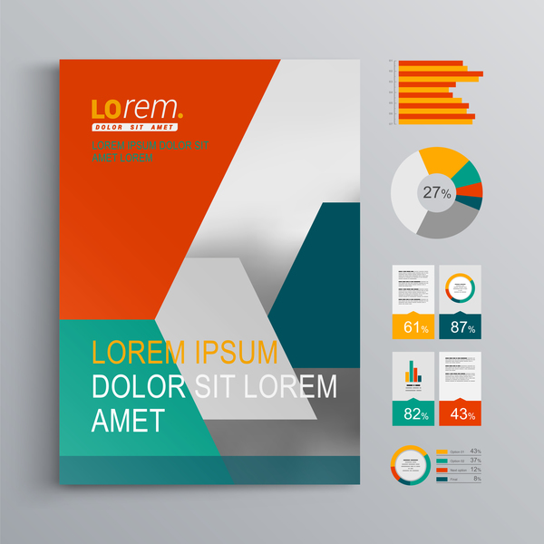 Infographic With Modern Brochure Template Vector 02 Free Download