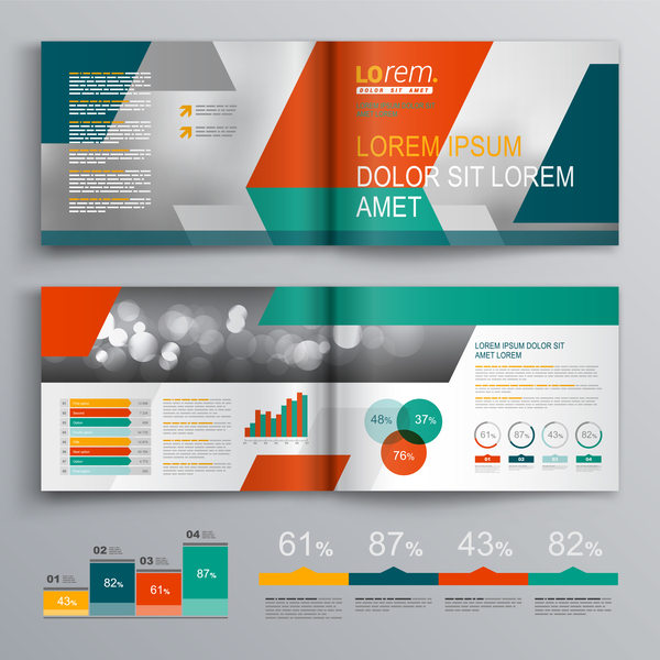 Infographic With Modern Brochure Template Vector 04 Free Download
