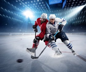 Intense Ice hockey match Stock Photo 09