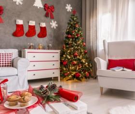 Interior Christmas decoration Stock Photo 01