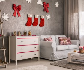 Interior Christmas decoration Stock Photo 02