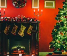 Interior Christmas decoration Stock Photo 03