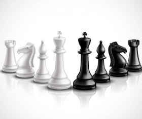 International chess background design vector 01