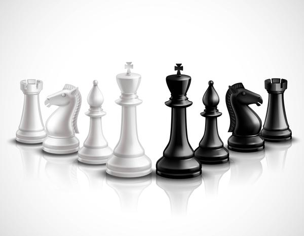 International chess background design vector 01