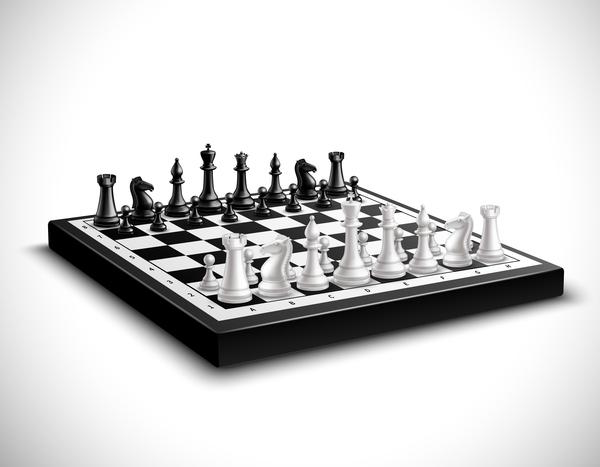 International chess background design vector 02