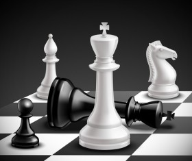 International chess background design vector 03