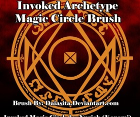 Invoked Magic Circle Photoshop Brushes