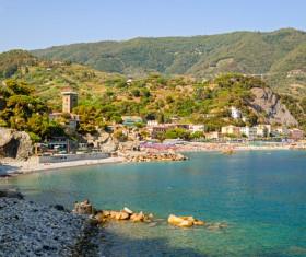 Italian seaside tourism Cinque Terre Stock Photo 02