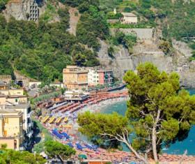 Italian seaside tourism Cinque Terre Stock Photo 03