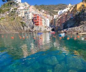Italian seaside tourism Cinque Terre Stock Photo 05